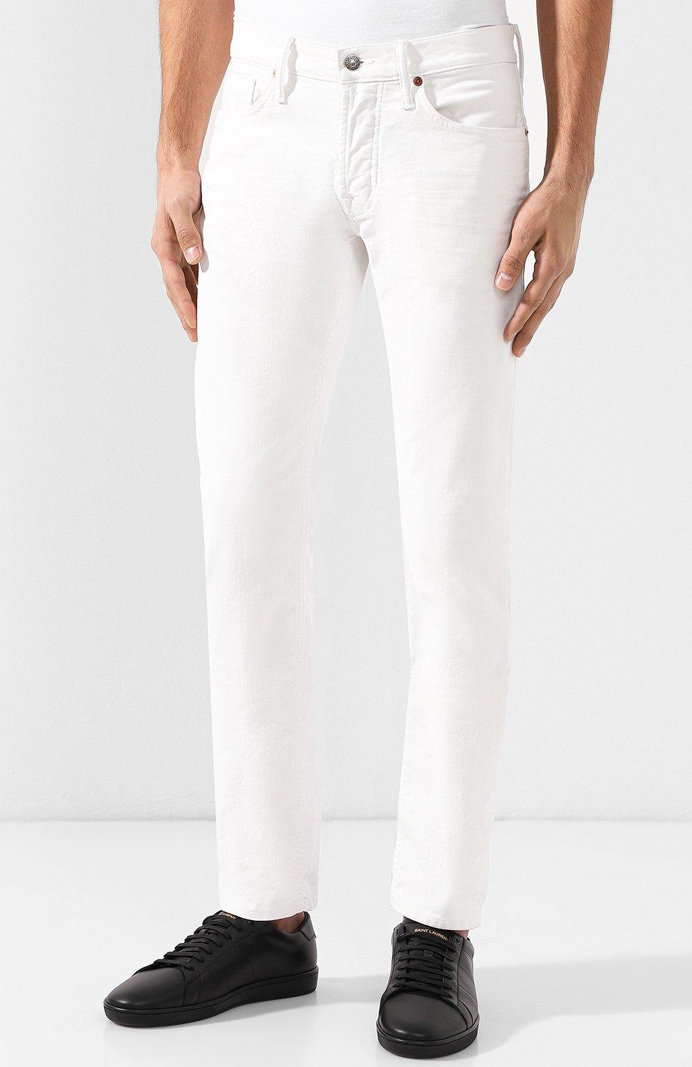 Джинсы прямого кроя Tom Ford белые | Фото №3
