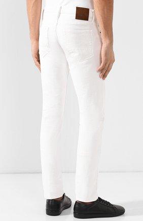 Джинсы прямого кроя Tom Ford белые | Фото №4