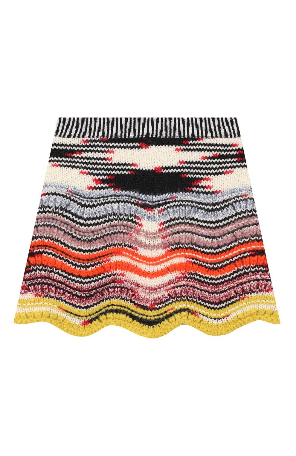 Шерстяная юбка фактурной вязки | Фото №1