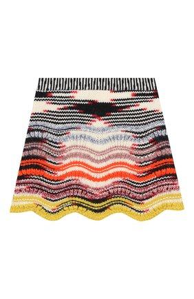 Шерстяная юбка фактурной вязки | Фото №2