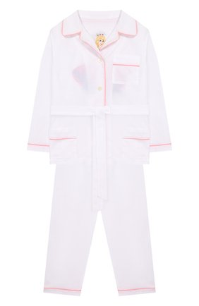 Хлопковая пижама с поясом | Фото №1