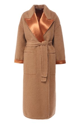 Шерстяное пальто с поясом | Фото №1
