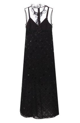 Хлопковое платье-миди с кружевной отделкой | Фото №1
