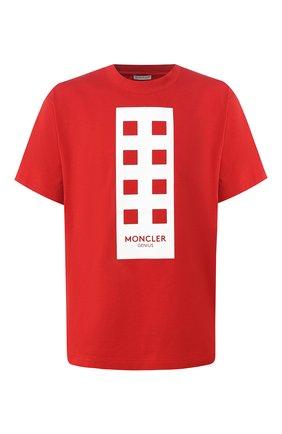 Хлопковая футболка Moncler Palm Angels | Фото №1