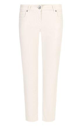 Однотонные джинсы прямого кроя   Фото №1