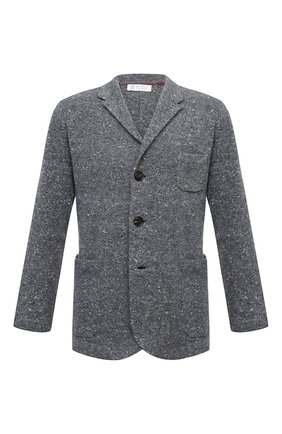 Мужской пиджак из шерсти и кашемира BRUNELLO CUCINELLI серого цвета, арт. M4673906   Фото 1