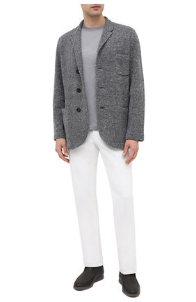 Мужской пиджак из шерсти и кашемира BRUNELLO CUCINELLI серого цвета, арт. M4673906   Фото 2