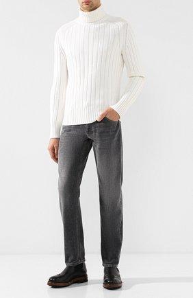 Мужские джинсы прямого кроя BRUNELLO CUCINELLI серого цвета, арт. MH203B2220 | Фото 2