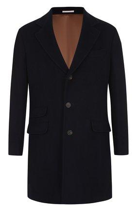 Однобортное пальто из кашемира