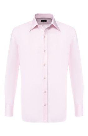 Мужская хлопковая сорочка с воротником кент TOM FORD розового цвета, арт. 4FT196/94S1JE | Фото 1