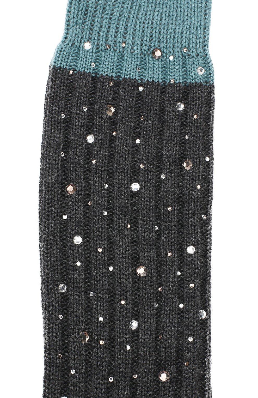 Детские гольфы из смеси шерсти и шелка La Perla серого цвета | Фото №2
