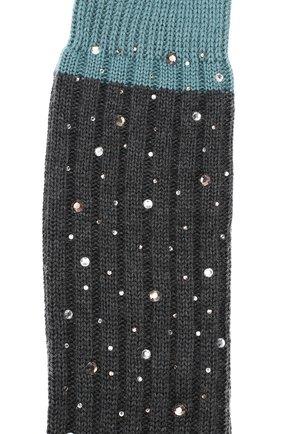 Детские гольфы из смеси шерсти и шелка LA PERLA серого цвета, арт. 48860/4-6 | Фото 2