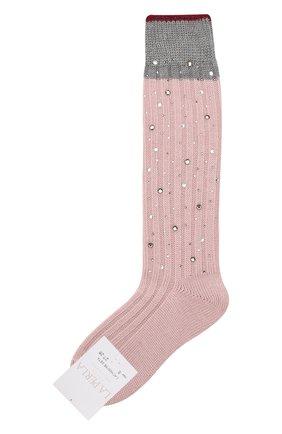 Детские гольфы из смеси шерсти и шелка LA PERLA розового цвета, арт. 48860/4-6 | Фото 1