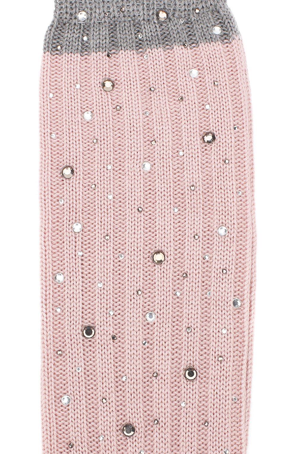 Детские гольфы из смеси шерсти и шелка La Perla розового цвета | Фото №2