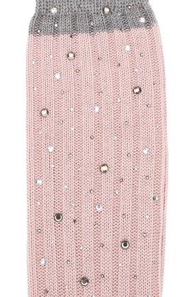 Детские гольфы из смеси шерсти и шелка LA PERLA розового цвета, арт. 48860/4-6 | Фото 2