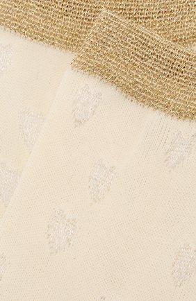 Детские хлопковые носки TWINSET золотого цвета, арт. GA8ABS | Фото 2