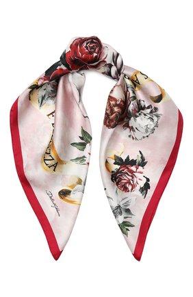 Шелковый платок с принтом | Фото №1