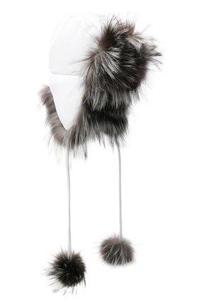 Шапка с отделкой из меха лисы | Фото №1