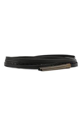 Кожаный ремень с кисточками | Фото №1