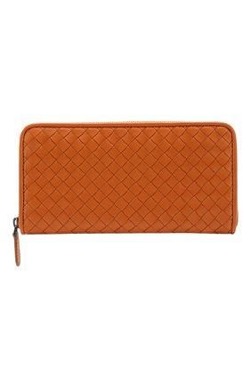 Кожаный кошелек с плетением intrecciato | Фото №1