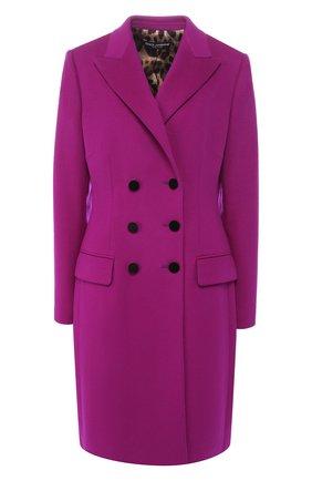 Женское двубортное шерстяное пальто DOLCE & GABBANA фиолетового цвета, арт. F0N87T/FU2Y6 | Фото 1