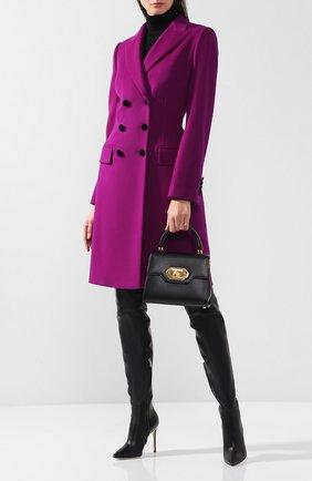 Женское двубортное шерстяное пальто DOLCE & GABBANA фиолетового цвета, арт. F0N87T/FU2Y6 | Фото 2
