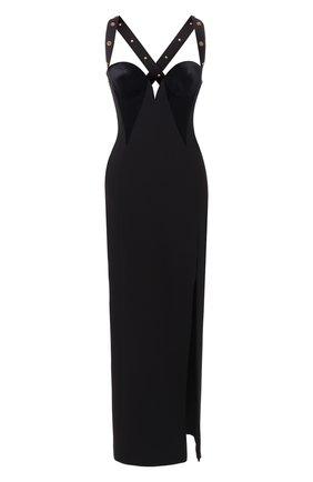 Платье-макси с высоким разрезом | Фото №1