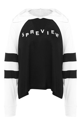 Пуловер с капюшоном и логотипом бренда | Фото №1