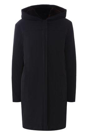 Однотонное пальто с меховой подкладкой | Фото №1