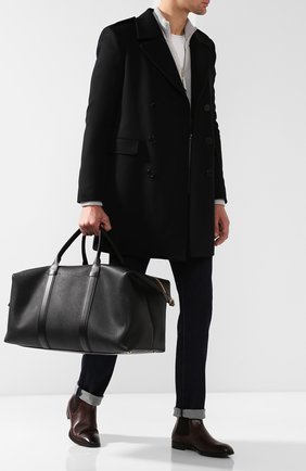 Мужская кожаная дорожная сумка с плечевым ремнем TOM FORD черного цвета, арт. H0378T-CP5 | Фото 2