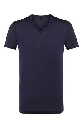 Шелковая футболка с V-образным вырезом | Фото №1