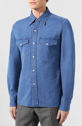 Мужская джинсовая рубашка  TOM FORD синего цвета, арт. 4FT440/94MAHA | Фото 3