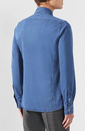 Мужская джинсовая рубашка  TOM FORD синего цвета, арт. 4FT440/94MAHA | Фото 4