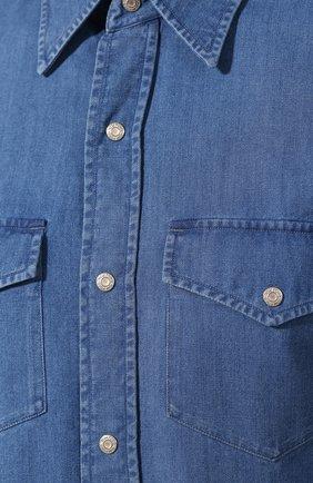 Мужская джинсовая рубашка  TOM FORD синего цвета, арт. 4FT440/94MAHA | Фото 5