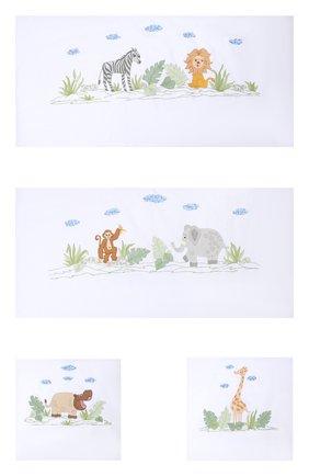 Детского комплект из 4 бортиков для детской кроватки LORETTA CAPONI белого цвета, арт. 182K17238301701 | Фото 1