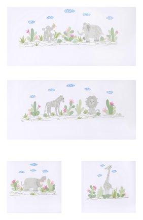 Детского комплект из 4 бортиков для детской кроватки LORETTA CAPONI белого цвета, арт. 182K17278301701 | Фото 1