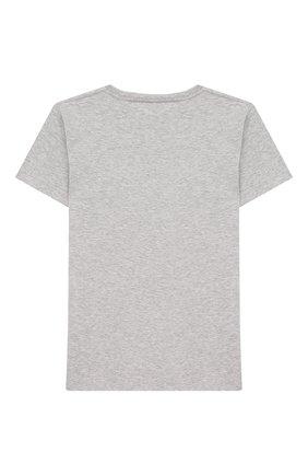 Детская хлопковая футболка с принтом GUCCI серого цвета, арт. 526775/X3074 | Фото 2