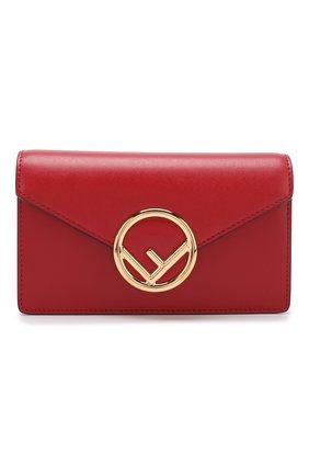 Кожаная поясная сумка с логотипом бренда | Фото №1
