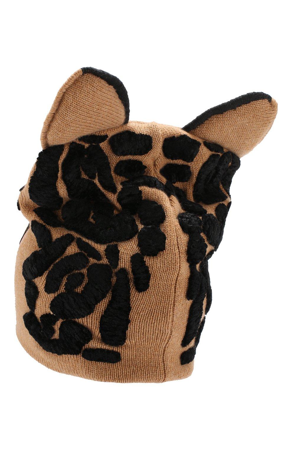 Шапка из смеси кашемира и вискозы с шерстью Dolce & Gabbana бежевого цвета | Фото №2