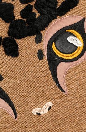 Шапка из смеси кашемира и вискозы с шерстью Dolce & Gabbana бежевого цвета | Фото №3