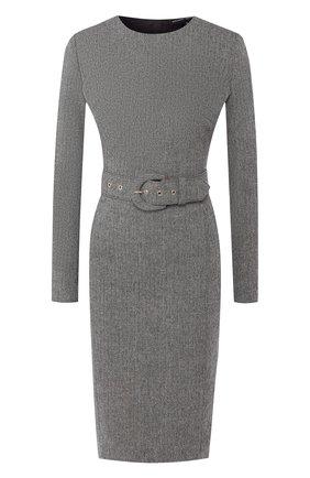Шерстяное платье с поясом | Фото №1