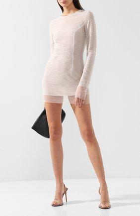 Мини-платье с декоративной отделкой Walk of Shame бежевое | Фото №2