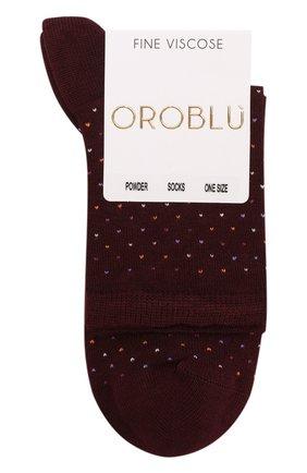 Вязаные носки с контрастной отделкой | Фото №1