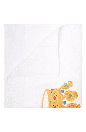 Детского хлопковое полотенце с вышивкой LORETTA CAPONI белого цвета, арт. 182K08188301301 | Фото 1