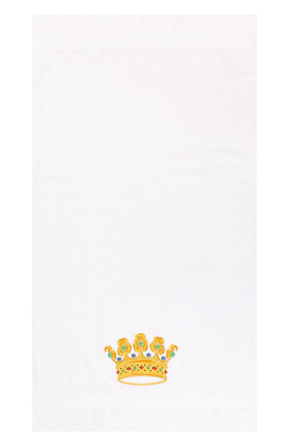 Детского хлопковое полотенце с вышивкой LORETTA CAPONI белого цвета, арт. 182K08188301301 | Фото 2