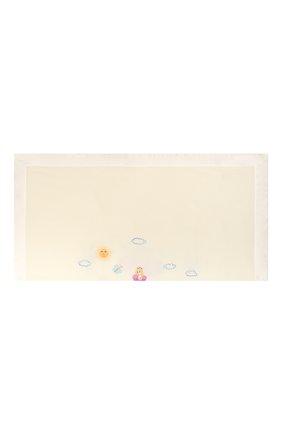 Детского шерстяное одеяло LORETTA CAPONI белого цвета, арт. 182K10198303402 | Фото 2
