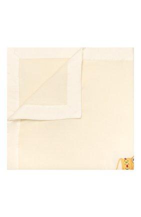 Детского шерстяное одеяло LORETTA CAPONI белого цвета, арт. 182K13188302002 | Фото 1
