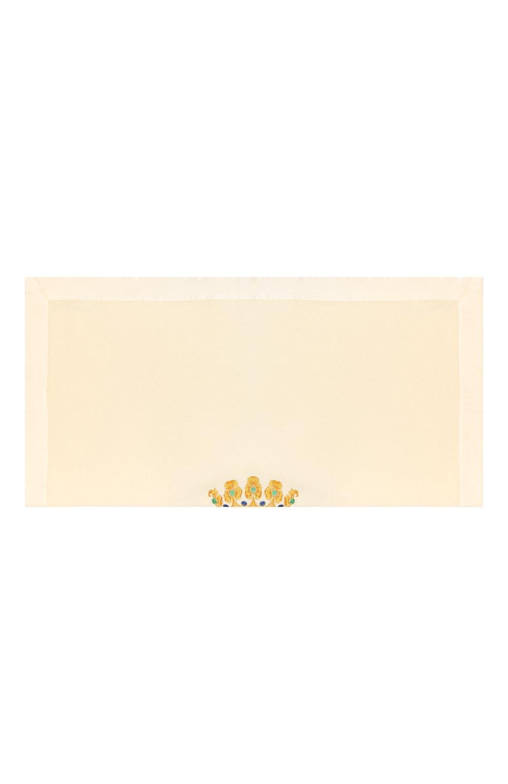 Детского шерстяное одеяло LORETTA CAPONI белого цвета, арт. 182K13188302002   Фото 2 (Материал: Шерсть; Статус проверки: Проверено, Проверена категория)