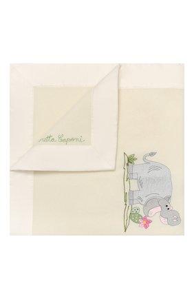 Детского шерстяное одеяло LORETTA CAPONI белого цвета, арт. 182K13308302002.GREY | Фото 1