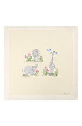 Детского шерстяное одеяло LORETTA CAPONI белого цвета, арт. 182K13308302002.GREY | Фото 2